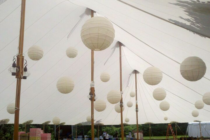 outdoor party tent decorating ideas